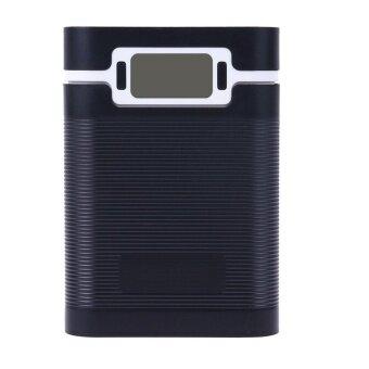 Portable 5V 2A 4x 18650 Battery Charger DIY Box(Black) - intl