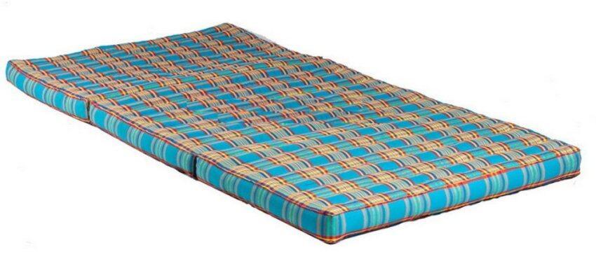 PRAEMAI ที่นอนแบบพับเก็บได้ ขนาดใหญ่ สีฟ้า M153 ขนาด 90*8*180 ซม.