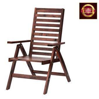 เก้าอี้ไม้อะคาเซียเก้าอี้สนามพับได้สีน้ำตาล