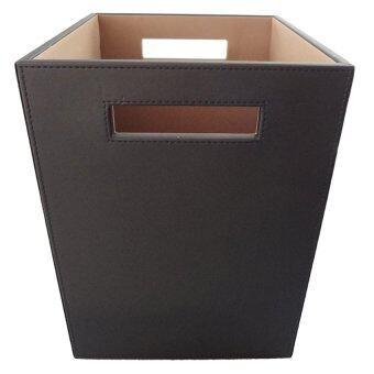 ประกาศขาย ถังขยะทรงสี่เหลี่ยมมีหูจับ สีดำ