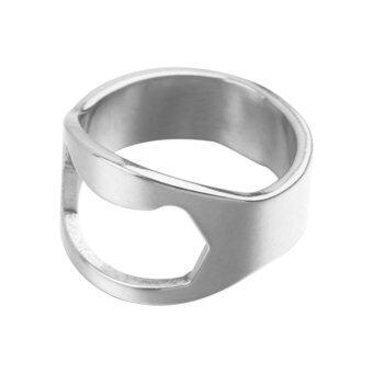 อุปกรณ์สำหรับเปิดปากขวด แหวนสแตนเลสเปิดขวดแบบพกพา