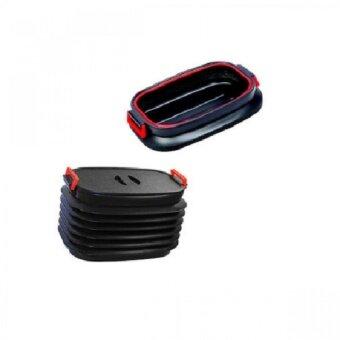 กล่องเก็บของอเนกประสงค์พับได้ใส่ของท้ายรถ เอกสาร หนังสือ เสื้อผ้าใช้เก็บของ อาหาร น้ำ ป้องกันการหกเลอะรถสามารถยืดหดและพับเก็บเหลือขนาดเล็กได้พร้อมมมีฝาปิด