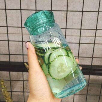 ขนาดเล็กสดโปร่งใสเพชรฝาแก้วถ้วยขวดน้ำ