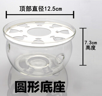 รูปหัวใจคริสตัลฐานแก้วกาน้ำชาดอกไม้หม้อแก้วเครื่องทำความร้อน