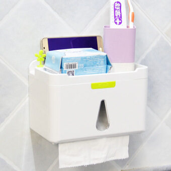 กล่องใส่กระดาษชำระ กันน้ำ แบบติดพนัง