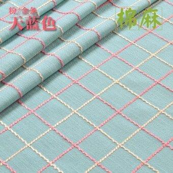 สวนฝ้ายสี่เหลี่ยมลายสก๊อตปกผ้าม่านผ้าปูโต๊ะ
