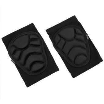 Protective Knee Pads Knee Protecting Kit for Skiing Skating Riding(Black)-M - intl
