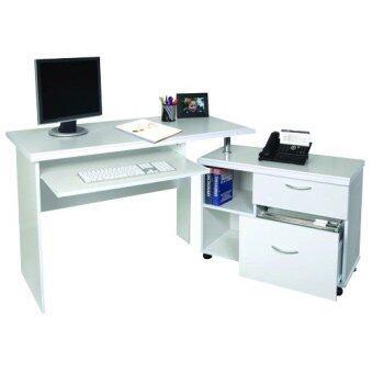 PT โต๊ะทำงานเข้ามุม ขนาด 120 ซม. รุ่น TC-141 (สีขาว)