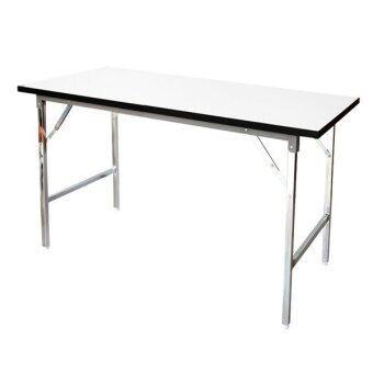 รีวิว PT โต๊ะพับอเนกประสงค์ขาชุบโครเมี่ยม ขนาด 120.00x75.00 ซม. รุ่นPT12075 (สีขาว)