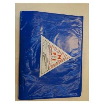 พลาสติกPVC ปูบ่อขนาด2x3เมตร สีน้ำเงิน