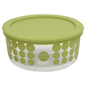 Pyrex 4cup/946ml Round storage P-00-1119206 สีเขียว