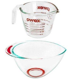 Pyrex ชุดถ้วยตวงขนาด250ml+ชามผสมอาหาร 2.5LP-00-508N-1072157