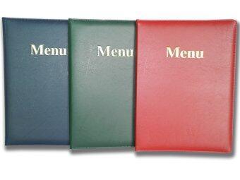 RELUX สมุดเมนูอาหาร ปกหนังบุบฟองน้ำ ไส้10แผ่น รุ่น MN-10x3 3 สี 3เล่ม