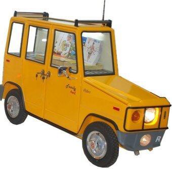 sales Relux รถเข็นเหล็ก สำหรับโชว์สินค้า/เป็นเฟอร์นิเจอร์ตกแต่งบ้าน รุ่น Family 4w - สีเหลือง เปรียบเทียบราคา
