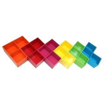 RELUX หิ้งพระ ชั้นวาง DVD /ใส่หนังสือการ์ตูน 3 ช่อง O-R-P-Y-G-B(ส้ม-แดง-ชมพู-เหลือง-เขียว-ฟ้า) 6ชิ้นDVDV-42