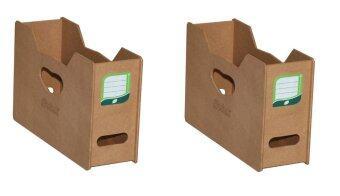 RELUX กล่องไม้ใส่แฟ้มแบบแขวน MDF-5501 (2 ชิ้น) - สีธรรมชาติ