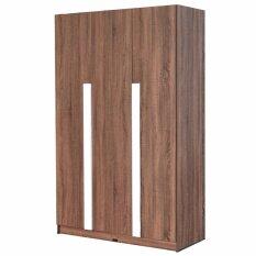 RF Furniture ตู้เสื้อผ้า 3 บาน รุ่น Sandy ขนาด 120 cm ( สีวอลนัท-ขาว )