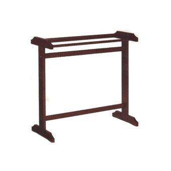RF Furniture ราวตากผ้าไม้ยาง รุ่น 406 ( สีโอ๊ค )
