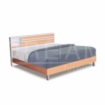 RF Furniture เตียงนอนขนาด 6 ฟุต ขาลอย รุ่น B609 ( สีบีช/ ขาว)