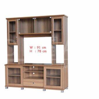 RF Furniture ตู้โชว์TV รุ่น SH1601 SL ( สีคาปูชิโน่ )