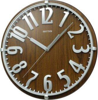 RHYTHM นาฬิกาแขวนไม้ รุ่น CMG106NR06 – Brown
