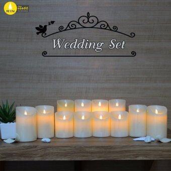 ชุด RIN Wedding เทียนขาวริน 4\ 4ชิ้น เทียนขาวริน 5\ 4ชิ้น เทียนขาวริน 6\ 4ชิ้น