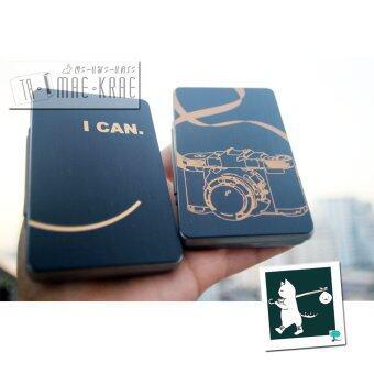 RINLIN Polaroid Photo Business Name Card Keeper Boxกล่องเก็บของอเนกประสงค์ ใส่รูปโพราลอยด์ นามบัตร และเหรียญลายสกรีนภาษาอังกฤษ I Can