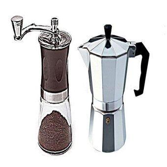 rongstore ที่บดกาแฟและเครื่องชงกาแฟสด3cup แพคคู่ พร้อมสำหรับทำกาแฟสด