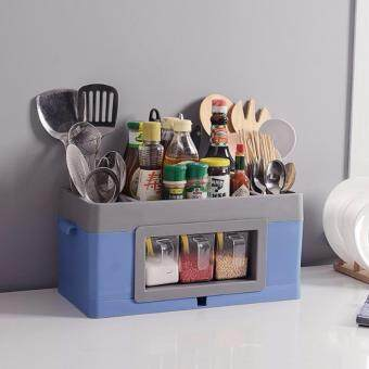 Room Story กล่องเก็บของ อเนกประสงค์ในครัว - สีฟ้า