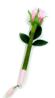 Rose Bee ปากกาลบได้หมึกน้ำเงิน พร้อมกับดอกกุหลาบ - ชมพู