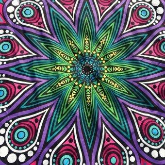Round Printing Hippie Tapestry Beach Picnic Throw Yoga Mat Towel Blanket Foxloom - intl