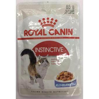 Royal Canin อาหารเปียกแมวโตแบบเยลลี่ Instinctive Jelly 85g*12 ซอง ( 2 units )