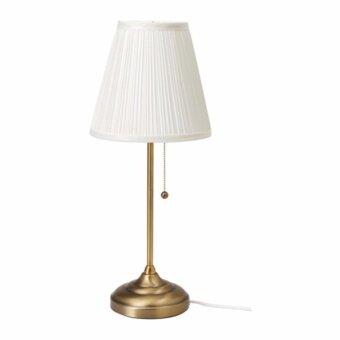 ÅRSTID โคมไฟตั้งโต๊ะ ทองเหลือง ขาว