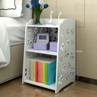 Ruyiyu 30 X 30 X 50 Cm Small Plastic Wood White Bed End Tablenightstand Bathroom