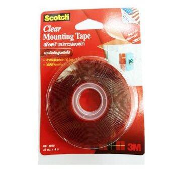 Scotch® Clear Mounting Tape สก๊อต เทปกาวสองหน้า แรงยึดติดสูงชนิดใส(ยาว4เมตร) 21 มม. X 4 ม.