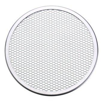 Seamless Rim Aluminium Mesh Pizza Screen Baking Tray Net Bakeware Cooking Tool 9'' - intl
