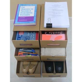 SECEN HOME - กล่องรองเท้า อเนกประสงค์ กระดาษอิเกีย แข็งแรง ใส่กระดาษ A4 รองเท้าส้นสูง เสื้อผ้า ไซส์ใหญ่ (6 ชิ้น)