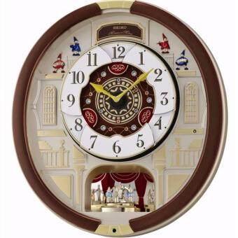 Seiko นาฬิกาแขวน เสียงดนตรี Hi-Fiหน้าปัดที่เคลื่อนไหวตามจังหวะดนตรี รุ่น QXM902B