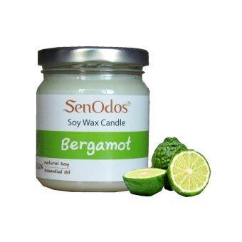 SenOdos เทียนหอม อโรม่า Bergamot Scented Soy Candle Aroma 190 g. (กลิ่นมะกรูด)