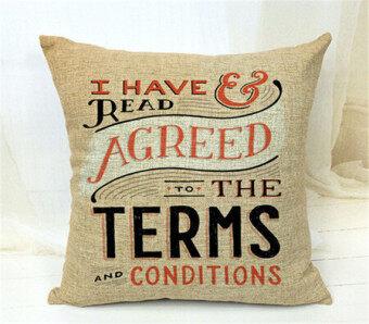 Set of 4 English Words Throw Pillow Case Pillow Case Sofa Home Decor Cushion Cover (No Filling)