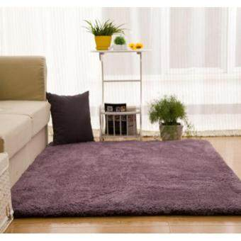Shaggy Anti-skid Carpets Rugs Floor Mat/Cover 80x120cm(Purple)