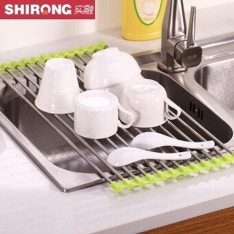 Shirong สแตนเลสชั้นวางห้องครัว