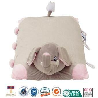 หมอนเด็ก หมอนข้างเด็ก หมอนยางพาราสำหรับเด็ก ใช้หนุนและเป็นหมอนข้างได้ การ์ตูนรูปช้าง