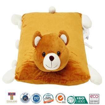 หมอนเด็ก หมอนข้างเด็ก หมอนยางพาราสำหรับเด็ก ใช้หนุนและเป็นหมอนข้างได้ การ์ตูนรูปหมี