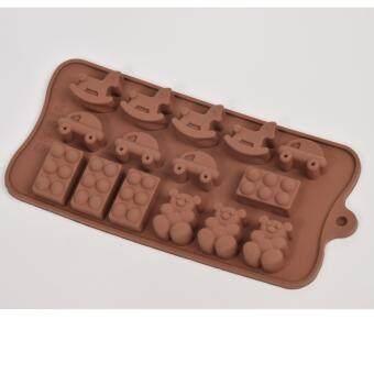 Silikone Craft ไอคอน การ์ตูนน่ารัก ม้าโยก โดมิโน หมี รถเด็กเล่นขนาด 15 หลุม แม่พิมพ์ไซส์มาตรฐาน ใช้ทำ ขนมไทย วุ้น ชอคโกแลตฟองดองค์ ตกแต่งหน้าเค้ก ทำน้ำแข็ง Tester สบู่ เทียนแฟนซีเทียนวันเกิด