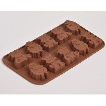 Silikone Craft ไอคอน การ์ตูนน่ารัก Macdonald farm แกะ แมว วัว ขนาด10 หลุม แม่พิมพ์ไซส์มาตรฐาน ใช้ทำ ขนมไทย วุ้น ชอคโกแลต ฟองดองค์ตกแต่งหน้าเค้ก ทำน้ำแข็ง Tester สบู่ เทียนแฟนซี เทียนวันเกิด