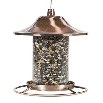 Perky Pet : PKP312C* ที่ให้อาหารนก Copper Panorama Bird Feeder