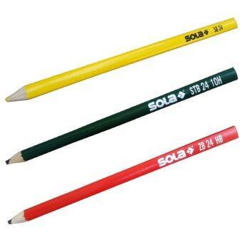 SOLA ชุดดินสอสำหรับงานไม้ ดินสอสำหรับงานอิฐ หินปูนดินสอสำหรับงานเหล็ก วัสดุสีเข้ม 3 แท่ง