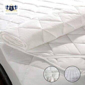 Solomon ผ้ารองกันเปื้อนเกรดโรงแรม ป้องกันไรฝุ่น ขนาด 6ฟุต (สีขาว)