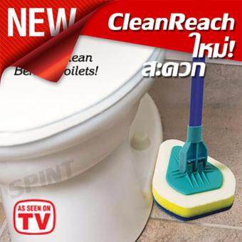 Spint Clean Reach Mop ไม้ถูพื้นแบบมีแผ่นรองมุมที่ยืดหยุ่น 3-in-1เข้าได้ทุกซอกทุกมุม